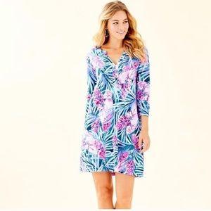 NWT Lilly Pulitzer peacock blue Daphne shirt dress